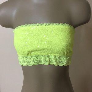 Victoria's Secret PINK Sequin Lace Hem Bandeau